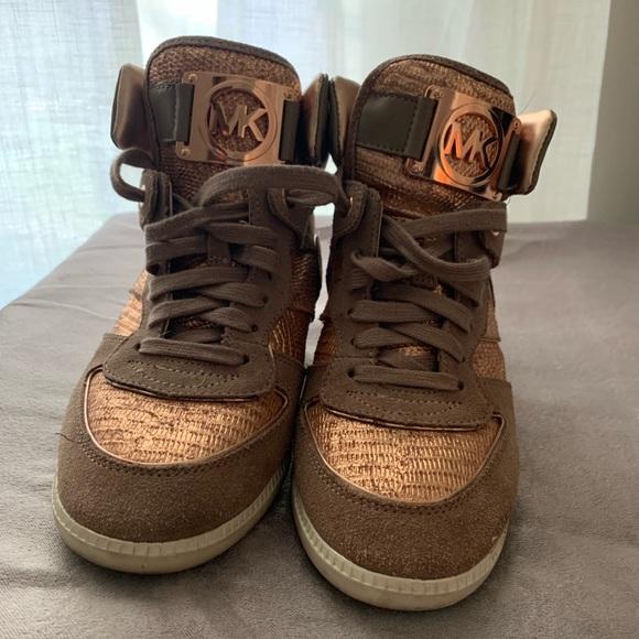 Michael Kors Shoes - Michael Kors high top, small heel sneaker
